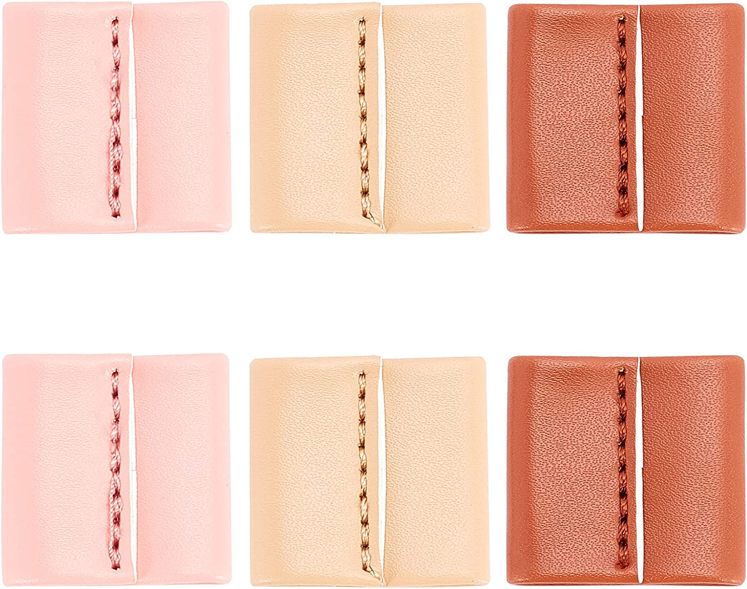 CHGCRAFT 6Pcs free 3 Colors PU Leather Keeper Co Some reservation Slide String
