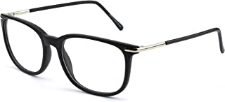 GQUEEN 201579 Fashion Metal Temple Horn Rimmed Clear Lens Glasses