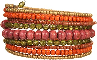 DCA Wood 2 Colour Gold and Bracelet for Women