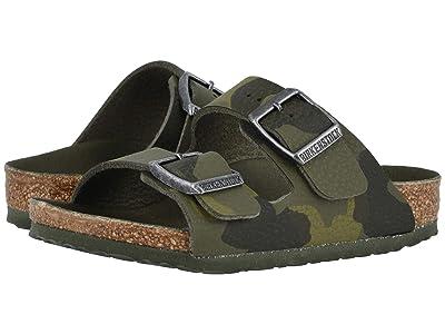 Birkenstock Kids Arizona (Toddler/Little Kid/Big Kid) (Camo Green Birko-Flortm) Girls Shoes