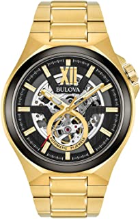 Men's Automatic-self-Wind Watch with Stainless-Steel Strap, Gold, 27 (Model: 98A178)