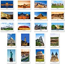UNESCO postcard set of 20. Made in USA. Quality post card variety pack depicting UNESCO word heritage sites postcards.