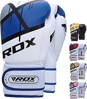 comprar comparacion RDX Guantes de Boxeo para Entrenamiento y Muay Thai | Maya Hide Cuero Mitones para Kick Boxing, Sparring | Boxing Gloves p...