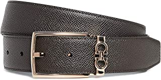 Salvatore Ferragamo Men's Rose Gold Gancio Reversible Belt