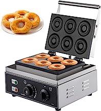VEVOR Machine à Beignets Eletrique à 6 Trous Appareil à Donuts Rond Machines à Cupcakes pour Faire Beignet