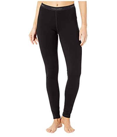 Icebreaker 260 Tech Merino Base Layer Leggings (Black) Women