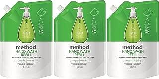 Method Gel Hand Wash Refill Pouch, Cucumber, 34oz, 3pk