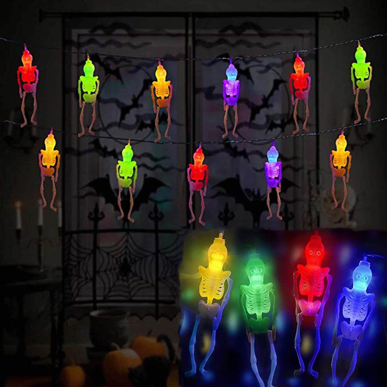 Halloween Skeleton Skull Ghost Decorations Hallowe Challenge Finally resale start the lowest price of Japan Lights String