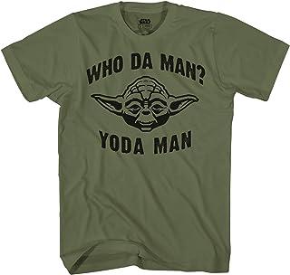 STAR WARS Who Da Man Yoda Classic Retro Vintage Movie Funny Adult Men's Graphic Tee Apparel T-Shirt