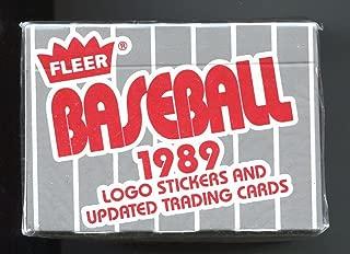 1989 Fleer UPDATE Set FACTORY SEALED Box 132 Cards WITH Rookies of Randy Johnson, Robin Ventura, Omar Vizquel, Jim Abbott, Deion Sanders. FREE SHIPPING