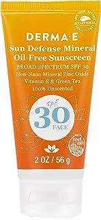 Derma E Sun Defense Mineral Oil-Free Face SPF 30 Sunscreen, 56 g
