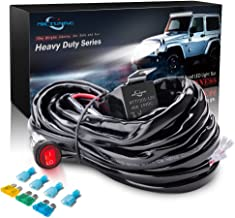 MICTUNING HD 300w LED Light Bar Wiring Harness Fuse 40Amp Relay ON-OFF Waterproof Switch(2Lead)