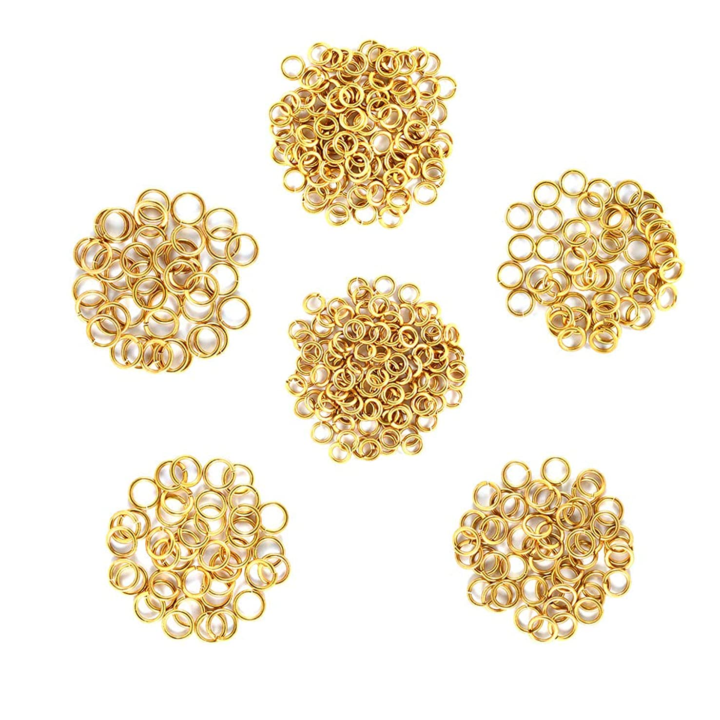 Bare Brass - Brass Jump Rings – 16 Gauge – 4.0mm to 6.5 mm ID - 240 Rings