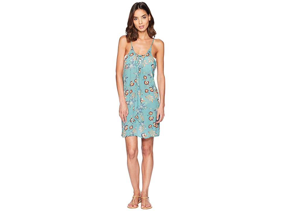 a90c420fe70 Roxy Softly Love Printed Dress Cover-Up (Trellis Bird Flower Swim) Women s  Swimwear