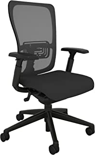 Haworth Zody High Performance Office Chair with Ergonomic Adjustments and Flexible Mesh Back, Black