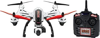 World Tech Toys Elite Orion 1-Axis Gimbal 2.4GHz 4.5CH RC HD Camera Drone, Red/Black/White, 20.75 x 13 x 8