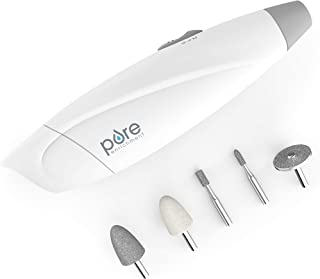 Pure Enrichment PureNails Express Cordless Manicure and Pedicure System - Portable, Battery-Powered Nail File with 5 Interchangeable Attachments, 2 Speeds and Storage Bag - Ideal for Travel & Home
