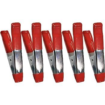 10 Stück Leimzwinge 150mm Metall Überzug Gummi Federzwinge Klemme Montageklemme