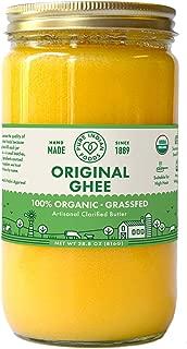 Organic Grassfed Original Ghee - by Pure Indian Foods, 28 oz, Clarified Butter, Pasture Raised, Non-GMO, Gluten Free, Made in USA, Paleo & Keto Friendly (32 fl oz / 1 quart)