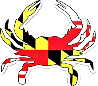 Maryland Flag Crab Shaped Car Magnet