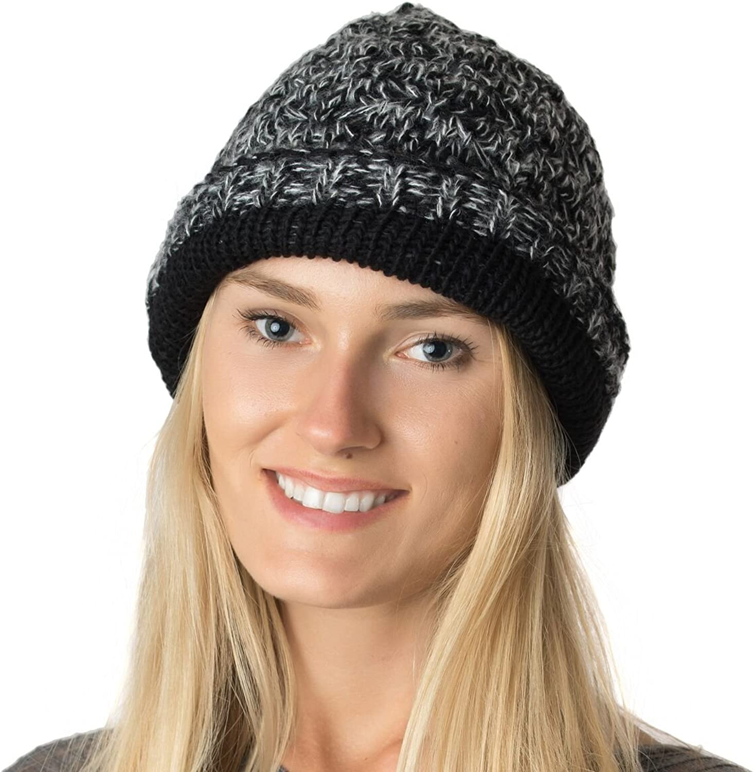 AN Womens Knit Lined Slouchy Beanie Hat Midweight Fall Winter Many Styles