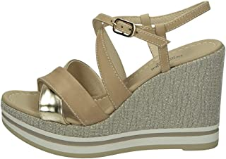 Sandalo da Donna NeroGiardini in Pelle Champagne o Bianco E012460D. Scarpa dal Design Raffinato. Collezione Primavera Esta...