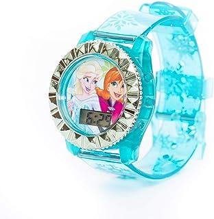 ديزني فروزن - ساعة رقمية للاطفال مع اضاءة LED وامضة - ساعة إلكترونية خارجية (6 – 15 سنة أولاد)