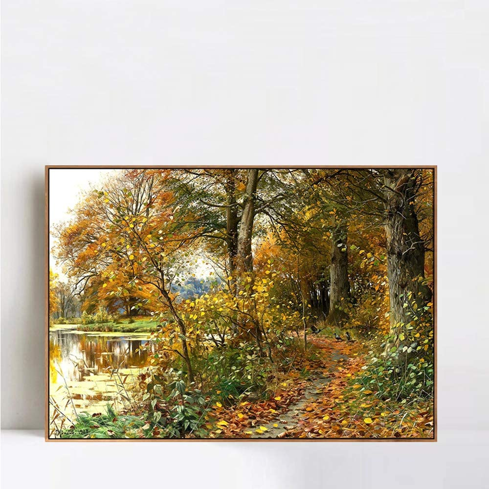 Framed Canvas Giclee Print Landscape#52 Mork Monsted Wa by Atlanta Mall Peder Courier shipping free