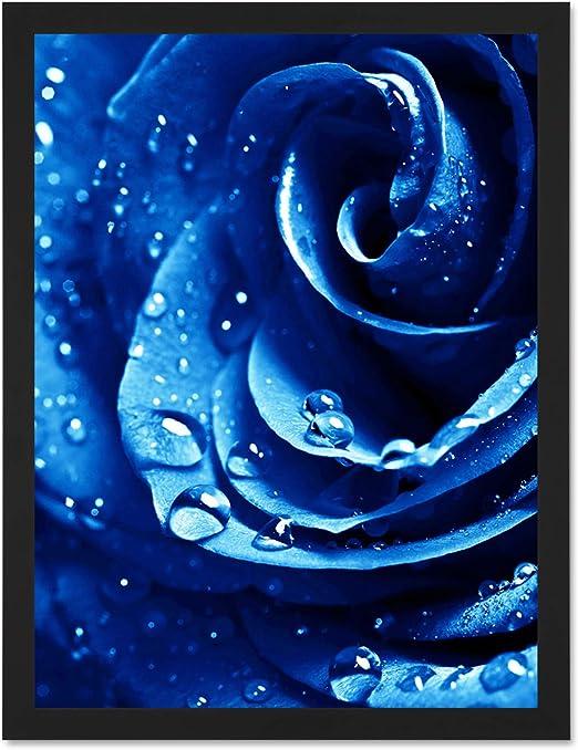 2 drops drops sky blue flower prints 40 x 28 mm metal