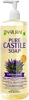 Dr. Natural Original Pure Castile Liquid Soap Bottle Lavender 32 Oz