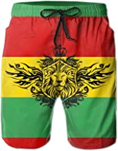 SARA NELL Mens Reggae Rasta Flag Breathable Beach Board Shorts Swim Trunks Quick Dry