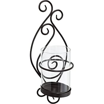 Hand Made By Amish Amish Made in Lancaster County PA 900-0 Wrought Iron Large Scroll Heart Taper Sconce