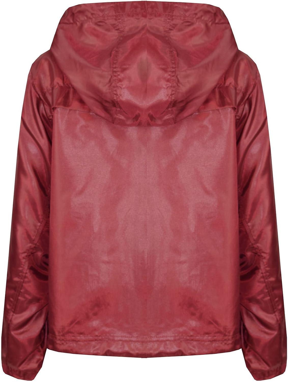 A2Z 4 Kids/® Girls Boys Raincoats Jackets Kids Wine Lightweight KAG Mac Waterproof Hooded Jacket Cagoule Rain Mac Age 5 6 7 8 9 10 11 12 13 Years