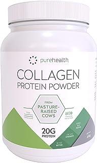Colágeno puro: 100% polvo de proteína de colágeno hidrolizado de pastos cultivados | Bovino Tipo 1 | Sin sabor, inodoro y se disuelve fácilmente | 20 g de proteínas | Keto Bulletproof |454G