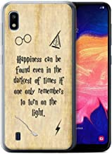 Phone Case for Samsung Galaxy A10 2019 School of Magic Film Quotes Happiness/Darkest Times Design Transparent Clear Ultra Soft Flexi Silicone Gel/TPU Bumper Cover