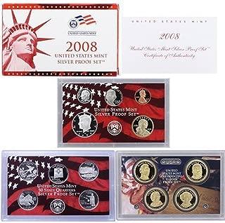 2008 S U.S. Mint Silver Proof Set - 14 Coins - OGP Superb Gem Uncirculated