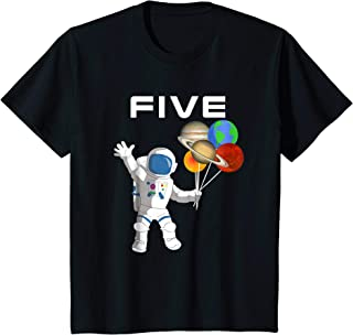 Kids 5 Year Old Outer Space Birthday Party 5th Birthday Shirt B