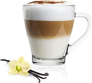 6 Thermo Kaffeegläser rund doppelwandig Cappuccino 260 ml Kaffeebecher