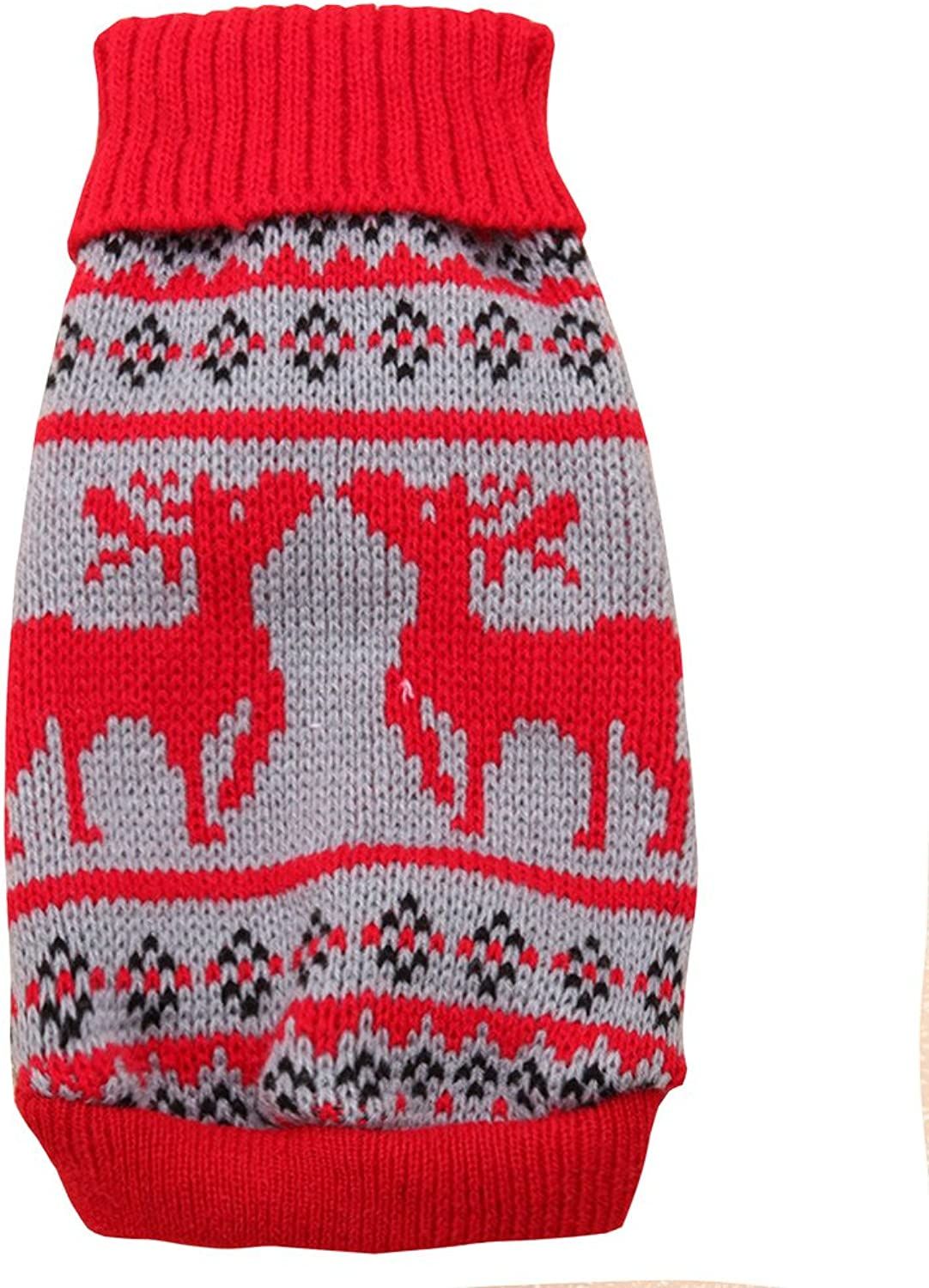 PetBoBo Pet Dog Cat Christmas Reindeer Sweater Clothes for Small Medium Large Dogs Cat Puppy Kitten Christmas Boy Girl Red XL