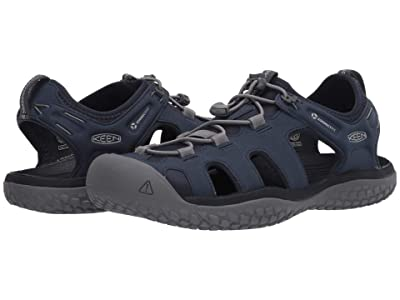 KEEN Solr Sandal (Navy/Steel Grey) Men