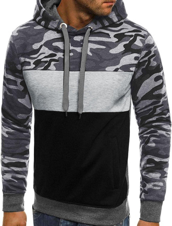 Hoodies for Men Mens Autumn Slim Casual Hooded Patchwork Long Sleeve Cool Sweatshirts Top Blouse Fashion Hoodies Sweatshirts