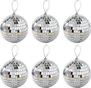 SLDHFE Lot de 36 boules de Noël, boules disco réfléchissantes de 4 cm, boules à suspendre pour sapin de Noël, décorations ...