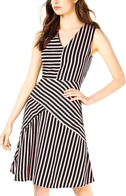 Bar III Mixed-Stripe Max security 70% OFF Dress