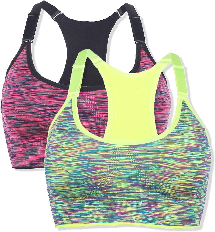 OMG_Shop Women's Sports Bras Pilates Yoga Seamless Full-Coverage Bra Gym Workout Fitness