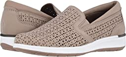 Light Taupe Perforated Nubuck