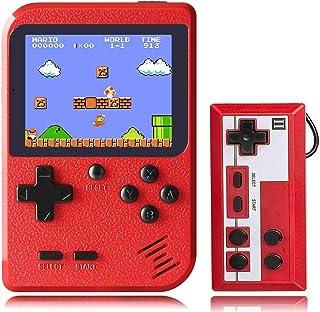 KINOEE Console de Jeu Portable Mini Lecteur de Jeu rétro avec 400 Jeux FC Classiques Prise en Charge de l'écran Couleur de...