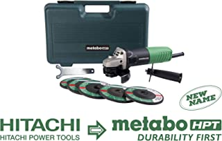 Metabo HPT G12SR4 4-1/2-Inch Angle Grinder, Includes 5 Grinding Wheels and Hard Case, 6.2-Amp Motor, Compact and Lightweight, 5 Year Warranty