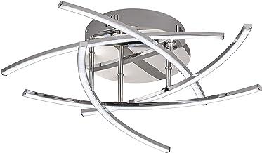 Fischer&Honsel Lampa sufitowa 5x LED 4W chrom, akrylowy biały Śr. 50x wys. 16cm, 20108
