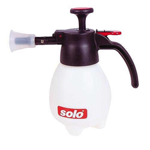 Solo 418 One-Hand Pressure Sprayer, 1-Liter, Ergonomic Grip for Gardening, Fertilizing, Cleaning & General Use Spraying
