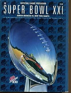 Super Bowl XXI 21 Program Giants v Broncos 1/15/1987 Rose Bowl 43745